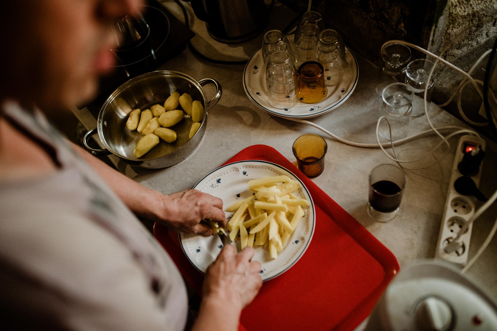 Au menu ce soir, des frites maison !