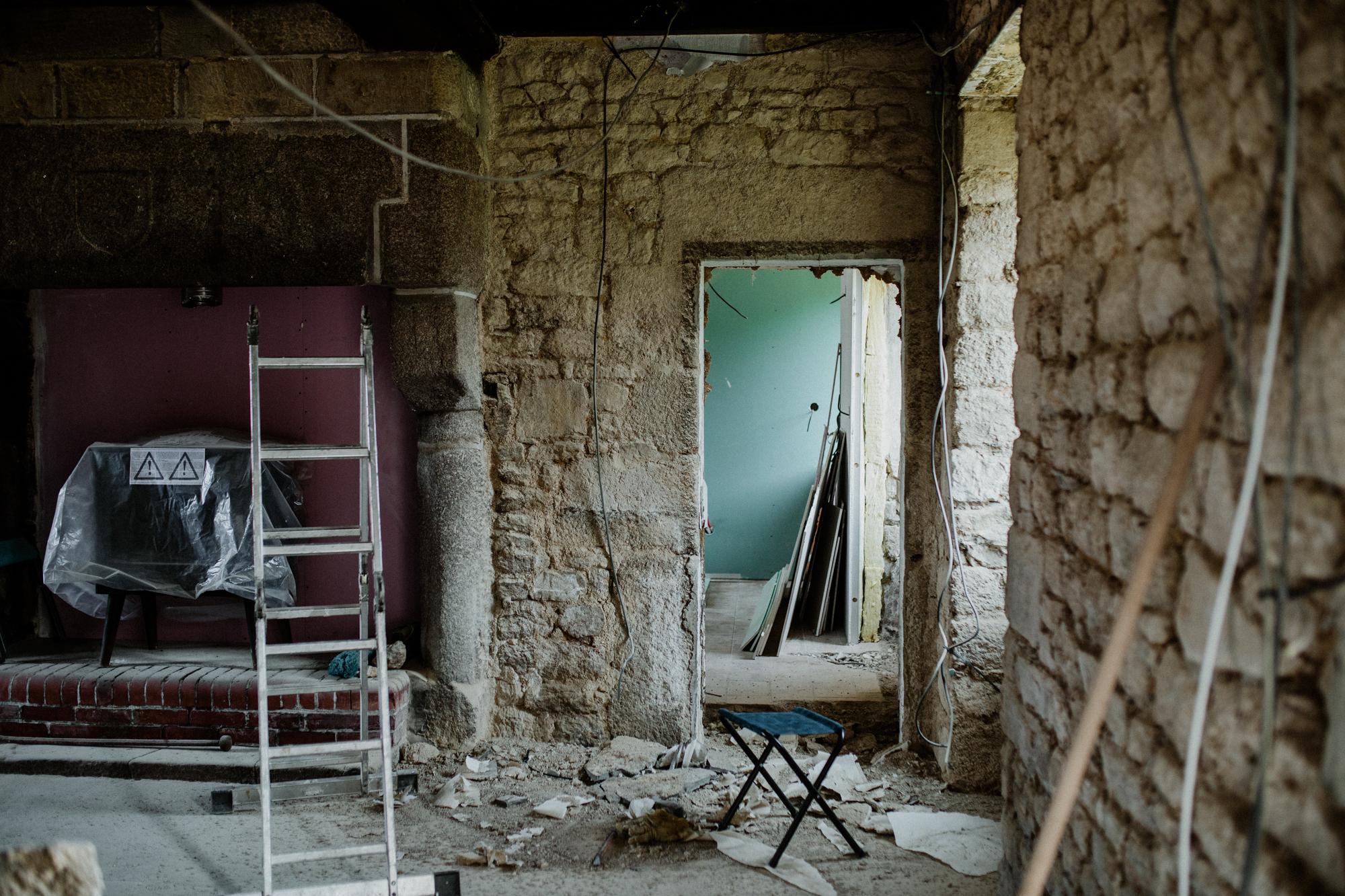 Rénovation ferme normande.